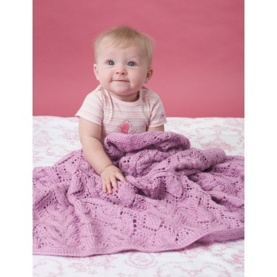Bernat Cable and Lace Blanket Free Knitting Pattern