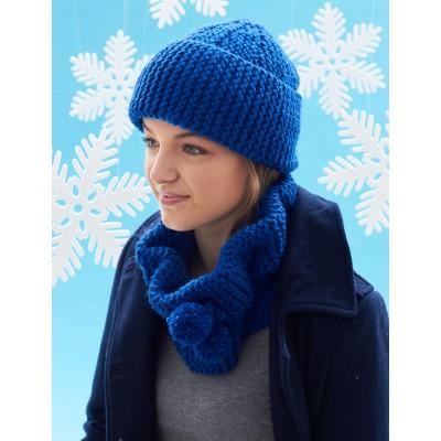 Bernat Cowl and Hat Free Easy Knitting Pattern