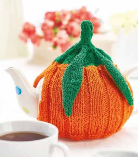 British Pumpkin Teacosy Free Knitting Pattern