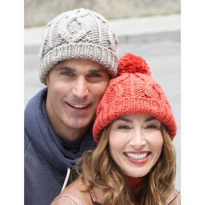 Cable Hat for Him and Her Free Knitting Pattern