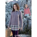 Cable Knit Sweater For Women and Kids Free Knitting Pattern