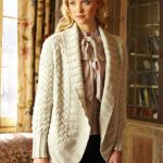 Cabled Jacket Free Knitting Pattern