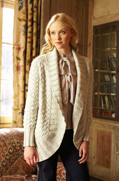 Cabled Jacket Free Knitting Pattern Knitting Bee