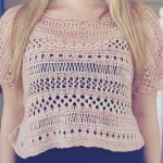 Cancun boxy lace top free knitting pattern