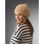 Caron Cabled Beret Free Knitting Pattern