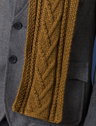 Caron Combo Cable Scarf Free Knitting Pattern