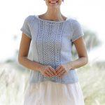 Charlotte lace top free knitting pattern