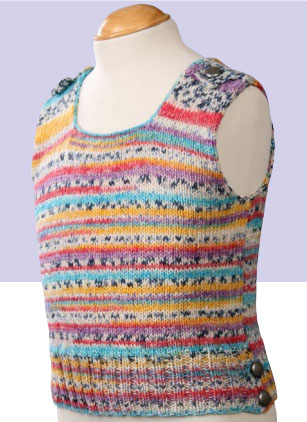 Child's Opal Tank Top Free Knitting Pattern