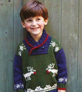 Children S Reindeer Sweater Free Christmas Knitting Pattern