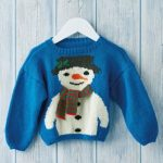 Children's Snowman Jumper Free Christmas Knitting Pattern