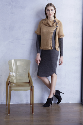 Cropped Jacket Free Knitting Pattern