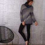 Diagonal Striped Pullover Free Knitting Pattern