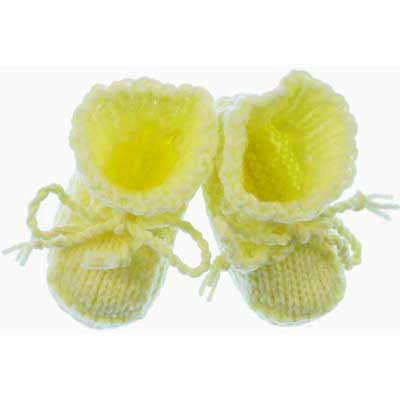 Easy Baby Booties to Knit