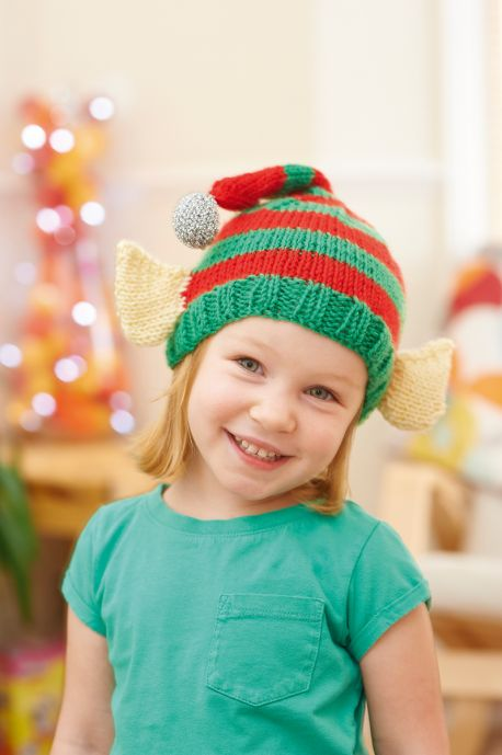 Elf Hat for Kids Free Christmas Knitting Pattern