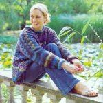 Entrelac Sweater for Women Free Knitting Pattern