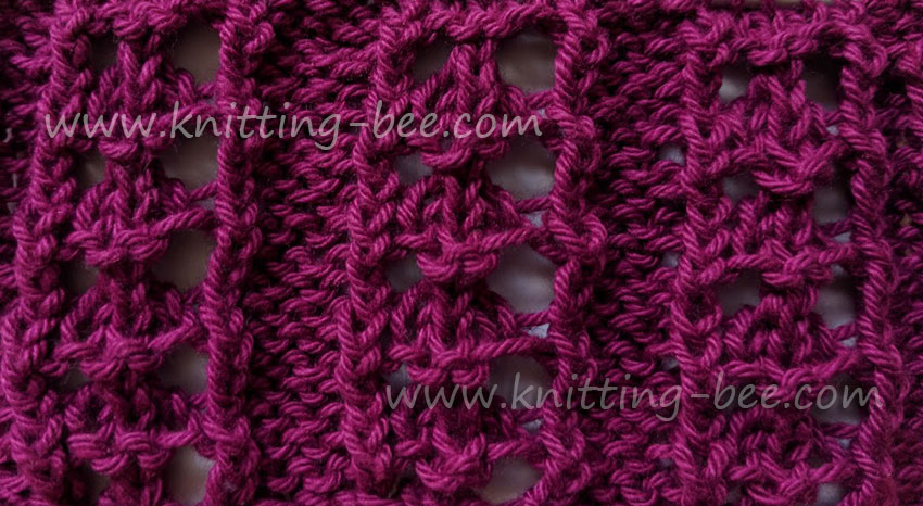Eyelet Rib Free Knitting Pattern designed by Knitting Bee.