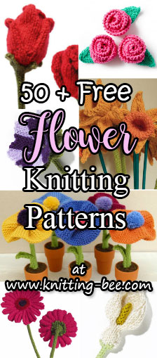 free knitting patterns for flowers
