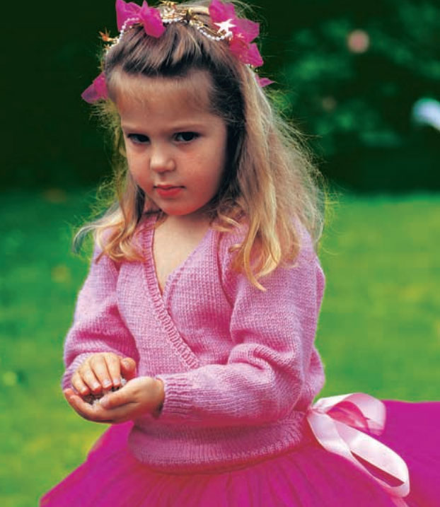 Girls Wrap Cardigan Free Knitting Pattern
