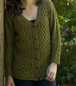 Free Aran Cardigan Knitting Patterns Celtic cable