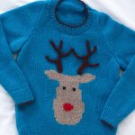 Kid's Reindeer Jumper Free Christmas Knitting Pattern
