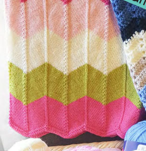 Knitted Chevron Blanket for Baby Free Pattern