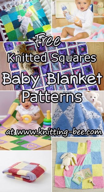 Knitted Squares Patterns Free : 170+ Best Free Baby Blanket Knitting Patterns Youll Love (171 free knitt...