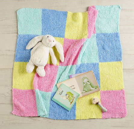 Knitted Squares Baby Blanket Patterns Knitting Bee