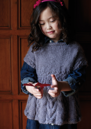 Mabel Tunic Sweater for Girls Free Knitting Pattern