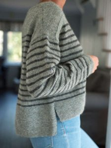 Parnell Striped Ladies Sweater Free Knitting Pattern