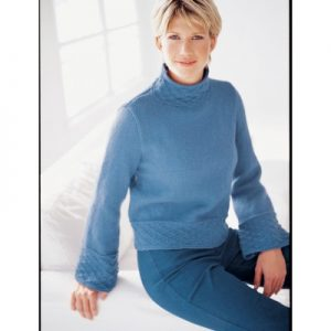 Patons Bell Sleeve Pullover Free Knitting Pattern
