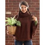 Patons Big Chocolate Cape Free Knitting Pattern
