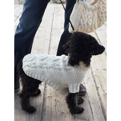 Patons Biscuits & Bones Dog Coat Free Knitting Pattern