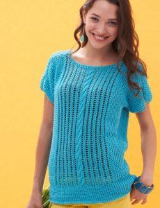 Patons Breezy Dolman Top Free Knitting Pattern