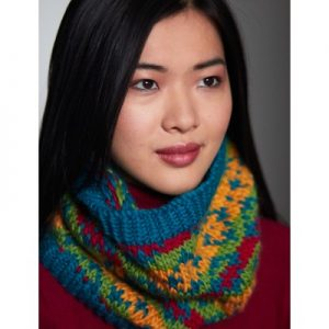 Patons Bright Diamonds Cowl Free Knitting Pattern