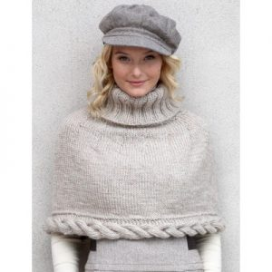 Patons Cable Capelet Free Knitting Pattern