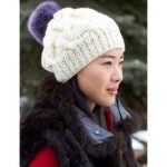 Patons Cable Hat with Pompom Free Knitting Pattern