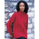 Patons Cabled Raglan Free Knitting Pattern