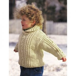 Patons Cables and Hearts Child's Pullover Free Knitting Pattern
