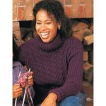 Patons Cables and Ribs Women's Sweater Free Knitting Pattern