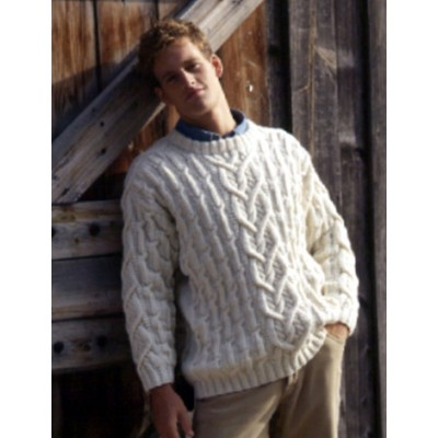 Patons Cables and Texture Men's Sweater Free Knitting Pattern