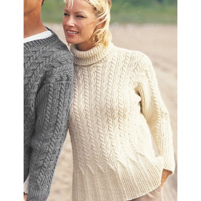 Patons Casual Cables Free Knitting Pattern For A Ladies Sweater