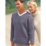 Patons Casual Cables Men's Sweater Free Knitting Pattern