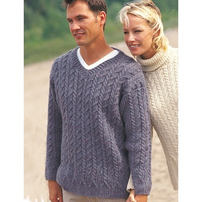 Patons Casual Cables Mens Sweater Free Knitting Pattern Knitting Bee