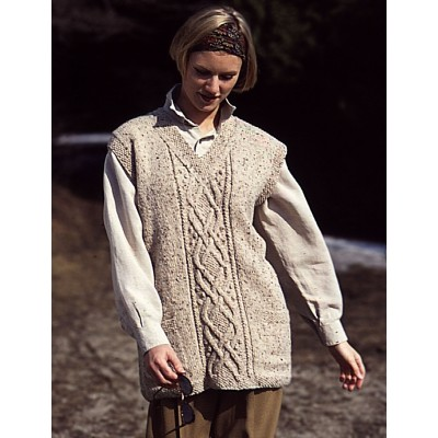Patons Celtic Cable Vest Free Knitting Pattern