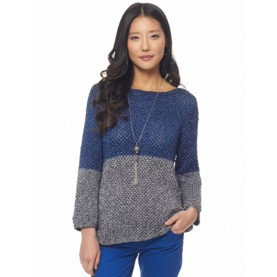 Patons Color Dipped Top Free Knitting Pattern
