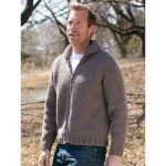 Patons Dad's Zip Front Jacket Free Knitting Pattern for Men