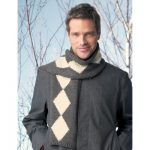 Patons Diamond Scarf Free Knitting Pattern for Men