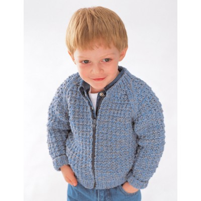 Patons Easy Zip Jacket Child's Sweater Knit Pattern