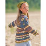 Patons Enchanted Garden Sweater Free Knitting Pattern for Girls