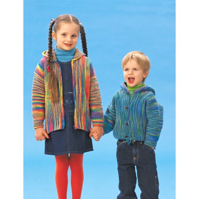 Patons Garter Stitch Jackets Free Knitting Pattern For Children